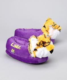 Purple LSU Mascot Slipper... AHHHHH