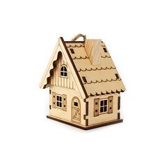Set of 3 Small Wooden Houses | DeSerres