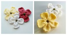 The finished knitted dogwood flowers look great as a brooch. TheDogwood Blossoms Free Knitting Pattern with video tutorial isa fairly quick project to do.