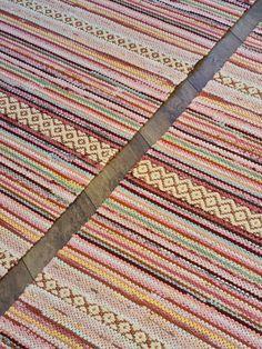 Rag Rugs, Scandinavian Style, Color Inspiration, Pattern Design, Bohemian Rug, Recycling, Weaving, Textiles, Colour