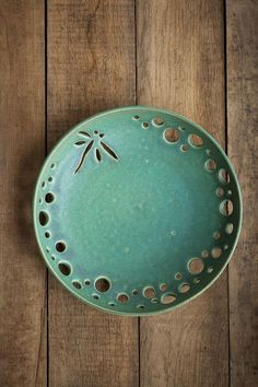 Ceramic plate Dragonfly Decorative pottery fruit bowl vessel | Etsy