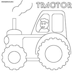 ausmalbilder, malvorlagen - traktor kostenlos zum ausdrucken | applikationen/ ausmalbilder