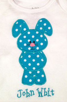 Easter TShirt with an Applique Bunny for by TwoandaHalfStitches, $16.00