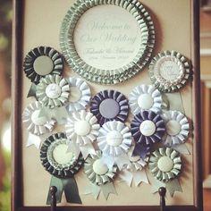 ゲストに勲章を♡最近トレンドの席札アイテム『ロゼット』がクラシカルで可愛い♡にて紹介している画像 Wedding Images, Our Wedding, Fabric Crafts, Diy Crafts, June Bride, Wedding Paper, Diy Flowers, Graduation Gifts, Handicraft