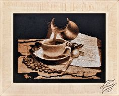 A Cup Of Coffee - Cross Stitch Kits by Alisena - 1087