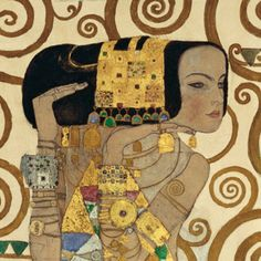 Stoclet frieze Tree of Life (detail of Expectation) by Gustav Klimt. The Stoclet Frieze is a series of three mosaics created by Klimt for a 1905-11 commission for the Palais Stoclet in Brussels. The panels depict a swirling Tree of Life, a standing female figure and an embracing couple
