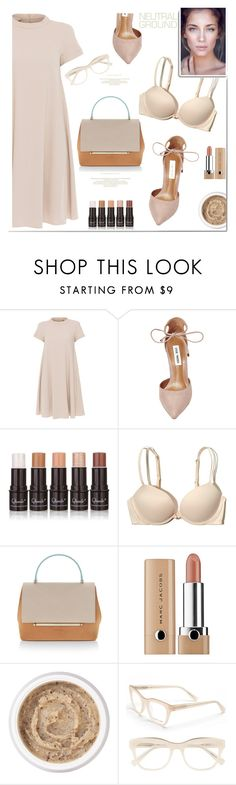"""neutrals for you"" by katymill ❤ liked on Polyvore featuring 'S MaxMara, Steve Madden, Hollister Co., Delpozo, Aromatherapy Associates and Derek Lam"