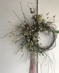 A resource for florists and encouragement for life. Dried Flower Wreaths, Wreaths And Garlands, Autumn Wreaths, Holiday Wreaths, Dried Flowers, Holiday Decor, Deco Table Noel, Dried Flower Arrangements, Twig Wreath