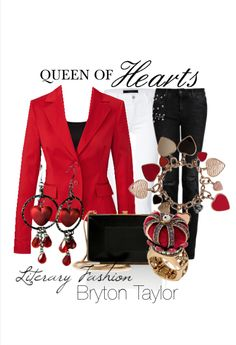 Literary Fashion | Queen of Hearts from Alice in Wonderland via BrytonTaylor.com
