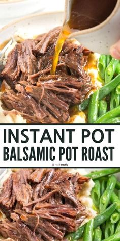 Instant pot balsamic pot roast easy quick pressure cooker beef recipe pressure cooker balsamic roast gluten free recipe paleo recipe keto low carb whole 30 clean eating healthy recipe idea easy weeknight dinner extra veggie beef chili no bean Healthy Low Carb Recipes, Healthy Cooking, Eating Healthy, Healthy Chef, Healthy Pot Roast, Healthy Pressure Cooker Recipes, Healthy Instapot Recipes, Breakfast Healthy, Crockpot Healthy Recipes Clean Eating