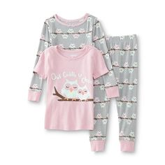 WonderKids Infant & Toddler Girl's Graphic Pajama T-Shirt Top & Pants - Owl - Baby - Baby & Toddler Clothing - Sleepwear
