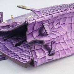 Hermes 35cm Birkin - Vivid Purple Crocodile