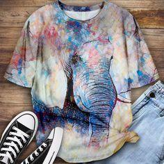 Elephant Shirt Elephant Shirt, Lovers, Shirts, Tops, Women, Fashion, Moda, Fashion Styles, Dress Shirts