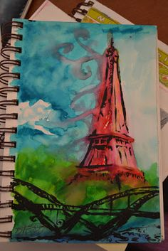 paint with markers, sketchbook assignments for junior high