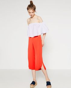 ZARA - WOMAN - CULOTTES WITH SLITS