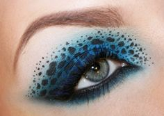 Beautiful turquoise leopard inspired makeup
