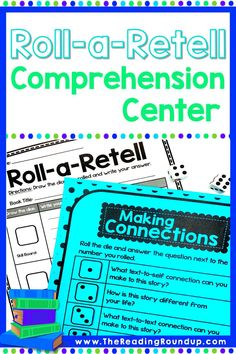 Roll-a-Retell is a fun activity for students to answer comprehension questions about fictional stories. Perfect to use during guided reading. Students can also play it during literacy centers or independent reading. The printable game boards help struggling readers practice reading skills such as retelling, setting, characters, making connections, and theme.   What's more fun than a dice game to practice story elements? #thereadingroundup #guidedreading #literacycenter Reading Games For Kids, Reading Buddies, Small Group Reading, Guided Reading Groups, Reading Resources, Reading Activities, Teaching Reading, Summarizing Activities, Comprehension Strategies