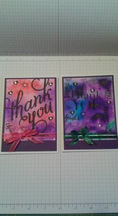 Ken Oliver Thank you cards by Debbie Zook - Cards and Paper Crafts at Splitcoaststampers