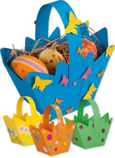 Sweet # Osterkörbchen for folding … (from 3 years) www. Easter Activities, Preschool Crafts, Activities For Kids, Easter Arts And Crafts, Easter Projects, Diy Crafts To Do, Paper Crafts, Easter Baskets, Art For Kids