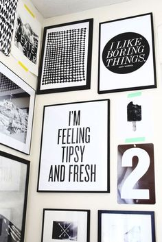 17 (Free!) Printables for Your Gallery Wall via Brit + Co.