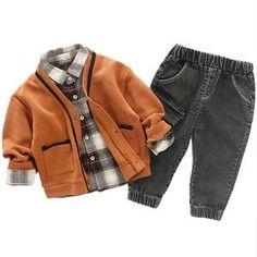 Children Clothing 2018 Autumn Winter Boys Clothes T shirt+Pants Outfits Kids Clothes Boys Sport Suit For Boys Clothing Sets-in Clothing Sets from Mother & Kids on AliExpress Baby Outfits Newborn, Baby Boy Outfits, Fall Outfits, Kids Outfits, Winter Baby Boy, Boys Clothes Style, Little Gentleman, Baby Suit, Costume