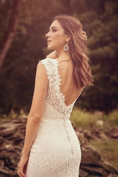 Lillian West - Style Embroidered Lace Fit and Flare Gown with Front Slit Lillian West, Fit And Flair, Bridal Dresses, Wedding Gowns, Fit And Flare Wedding Dress, Lace Mermaid Wedding Dress, Sincerity Bridal, Embroidered Lace, The Dress