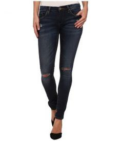 Blank NYC Denim Blue Skinny w/ Rip (Pros and Ex Cons) Women's Jeans