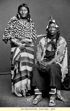 Iron Bull & wife, Crow, 1873