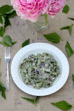 You don't need a pasta maker or even a rolling pin to make our nettle fettuccine Alfredo recipe.