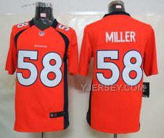 http://www.yjersey.com/nike-denver-broncos-58-miller-orange-limited-jerseys-discount.html #NIKE DENVER BRONCOS 58 MILLER ORANGE LIMITED JERSEYS #DISCOUNTOnly$36.00  Free Shipping!