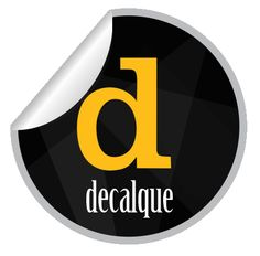 Logo para Empresa Decalque, photshop, corel.