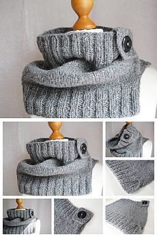 Crochet Cowl Poncho Buttons Ideas For 2019 Knit Cowl, Knitted Shawls, Crochet Scarves, Crochet Gratis, Free Crochet, Knit Crochet, Loom Knitting, Free Knitting, Knitting Patterns