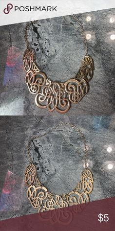 Gold filigree collar statement necklace Gold filigree collar statement necklace Jewelry Necklaces