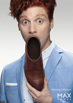 campaña de la agencia suiza jung von matt / limmatpara lamarca de zapatos max shoes