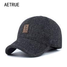 10d15bdd902 AETRUE Men Snapback Baseball Cap Brand Bone homme Earflaps Dad Hats For Men  Gorras Casquette Chapeau Thicken Warm Winter Hat-in Baseball Caps from  Men s ...