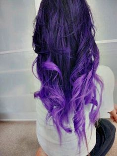 if i ever get to dye my hair purple again, i wanna do this :)