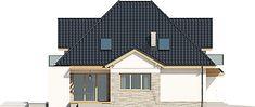 Projekt domu Amira G1 153,04 m2 - koszt budowy - EXTRADOM Modern Bungalow Exterior, Home Fashion, Shed, Villa, Outdoor Structures, Cabin, House Styles, Type, Garden