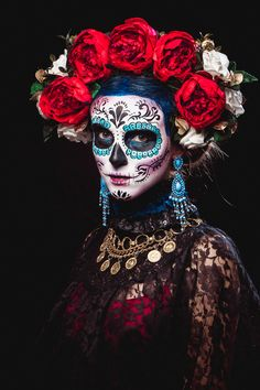 halloween null Halloween nullYou can find Sugar skull costume and more on our website Sugar Skull Make Up, Halloween Makeup Sugar Skull, Sugar Skull Costume, Sugar Skull Art, Halloween Makeup Looks, Skull Makeup, Halloween Stuff, Sugar Skulls, Sugar Skull Dress