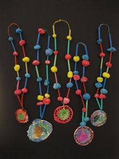 Kindergarten just completed their clay bead and medallion necklaces!  The kindergartners learned all about clay, texture and pattern!  They...
