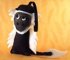 Felt Ornament  Albert the Colobus Monkey by Squshies