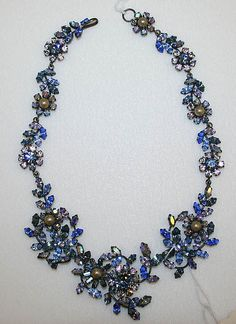Necklace Date: 1950–65 Culture: Austrian Medium: rhinestones, metal, synthetics pearls Dimensions: Height: 15 3/4 in. (40 cm) Credit Line: Gift of Barbara and Gregory Reynolds, 1984