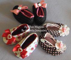 Agulhas Mágicas By Andréia Junqueira: molde sapatinho de bebê - free pattern