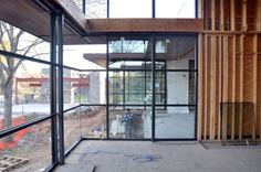 Cottonwood Modern butt jointed glazing at Main Living Room