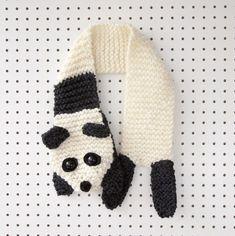 Panda scarf knitting pattern