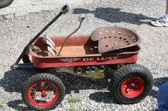 Custom radio flyer wagon pics and ideas? Custom Radio Flyer Wagon, Radio Flyer Wagons, Kids Wagon, Toy Wagon, Pull Wagon, Little Red Wagon, Red Tractor, Kids Ride On, Pedal Cars
