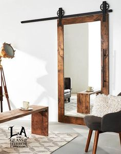 Glass will always bring a sophisticated touch to your home. It's a classical element in decoration #LAGlassMirror