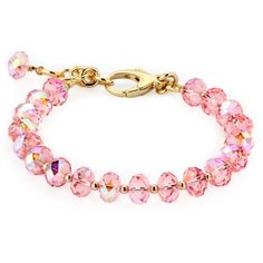 Lollies Breast Cancer Awareness Pink Swarovski Bracelet ($150) ❤ liked on Polyvore featuring jewelry, bracelets, accessories, bracelets&watches, pink, pink jewelry, pink bangles and swarovski crystal jewelry