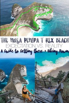 The Nusa Penida T Rex Beach: A guide to getting there and hiking down the treacherous trail to the bottom! Many take lovely photos at the top (expectation) but not many make the trek to the beautiful #beach itself (reality) but it's so worthwhile! #trexbeach #nusapenida Bali Travel Guide, Asia Travel, Travel Guides, Travel Plan, Beach Travel, Spain Travel, Time Travel, Travel Tips, Amazing Destinations