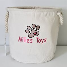 Excited to share the latest addition to my #etsy shop: Personalised pet basket, perfect for all those toys & tennis Balls !! www.etsy.com/uk/shop/sewn4yougb  #pets #dogstoragebin #petstoragebin #dogpresent #puppygift #personalisedgift #custommadegift #petgift #doggift Dog Toy Basket, Rope Basket, Puppy Gifts, Dog Gifts, Dog Presents, Toy Storage Baskets, Custom Made Gift, Dog Toys, Embroidery