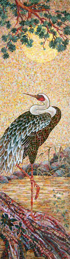Мозаичное панно Цапля